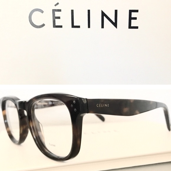 fc6744a208715 SALE ⭐ Celine Havana bevel square eyeglasses